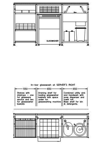 FastrackCAD - Servaclean Bar Systems CAD Details